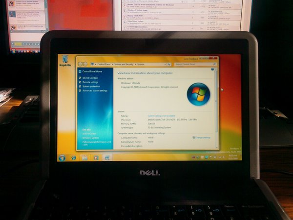 Dell mini 9 running windows 7