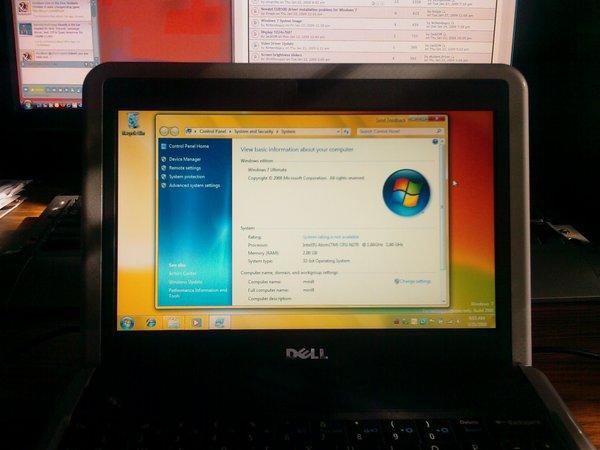 Dell mini 9 running windows 7